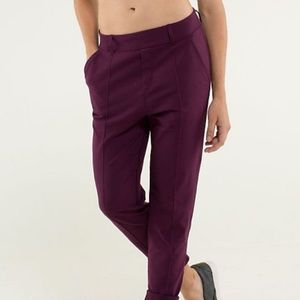 Lululemon purple work trousers size 4
